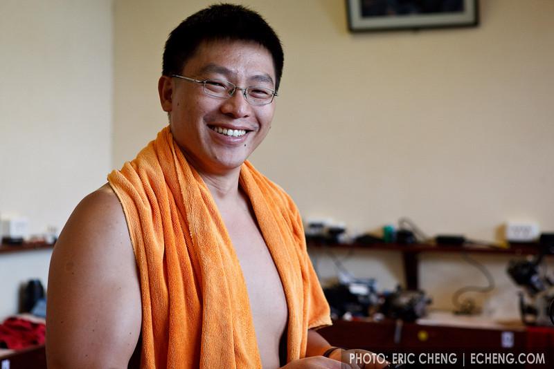 Hoed Hui Tan in the Kasawari camera room