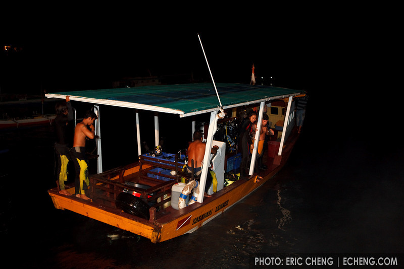 Night diving at Kasawari Lembeh Resort