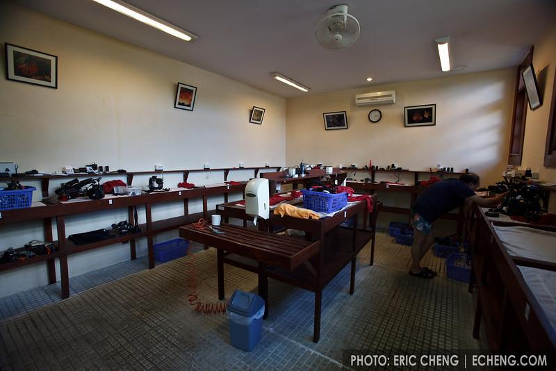 Kasawari's large camera room -- the best I've seen