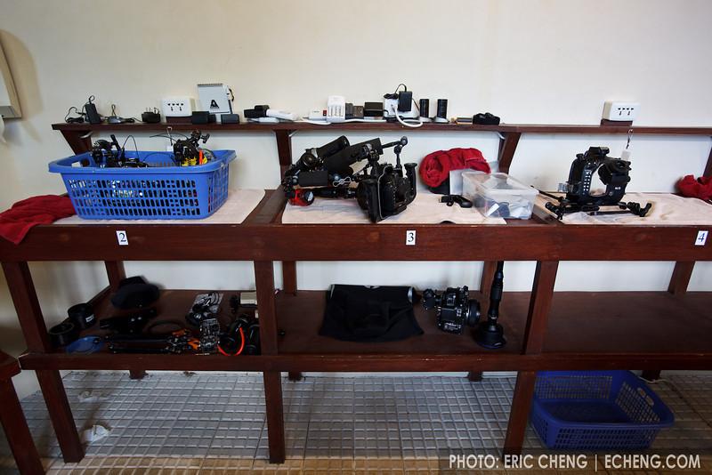 Kasawari Lembeh Resort's camera tables