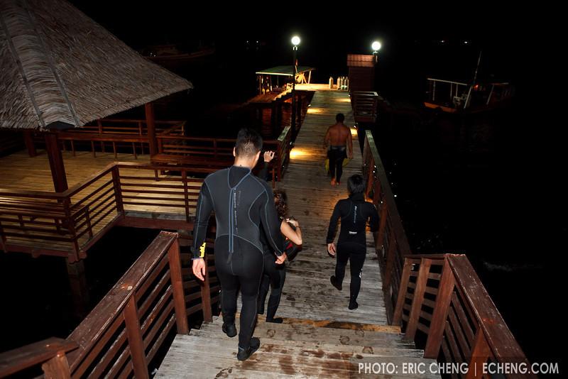 Night diving at Kasawari Lembeh Resort