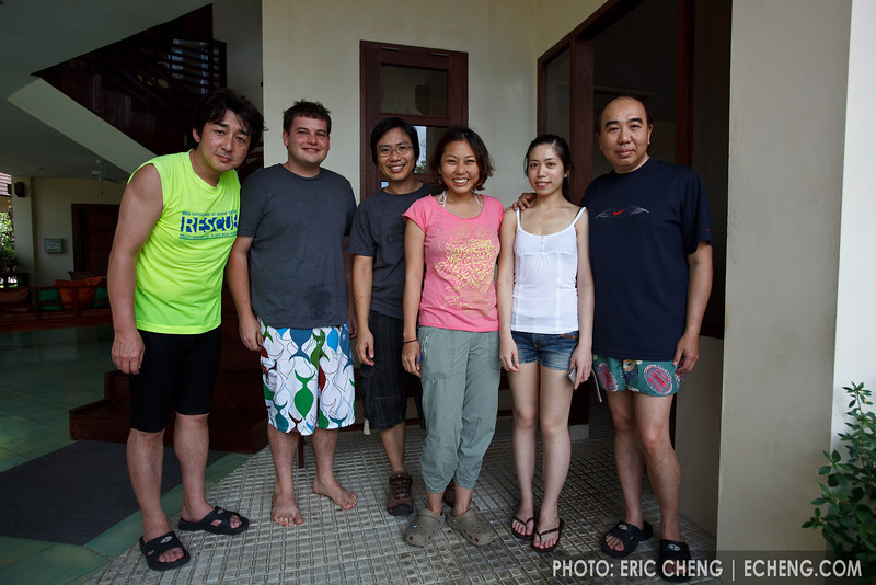 Group photo: Kenji Ohmura (Fisheye), Ryan Canon (Reef Photo & Video), Aey Komson and Mean Mora (FiNS), Jacquelin and Edward Lai (Nauticam)