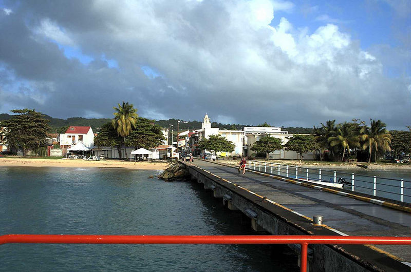 Before our ferry went to St. Francois, it made a brief stop at Marie Galante.