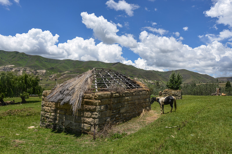 Traditional Farmhouse in Lesotho