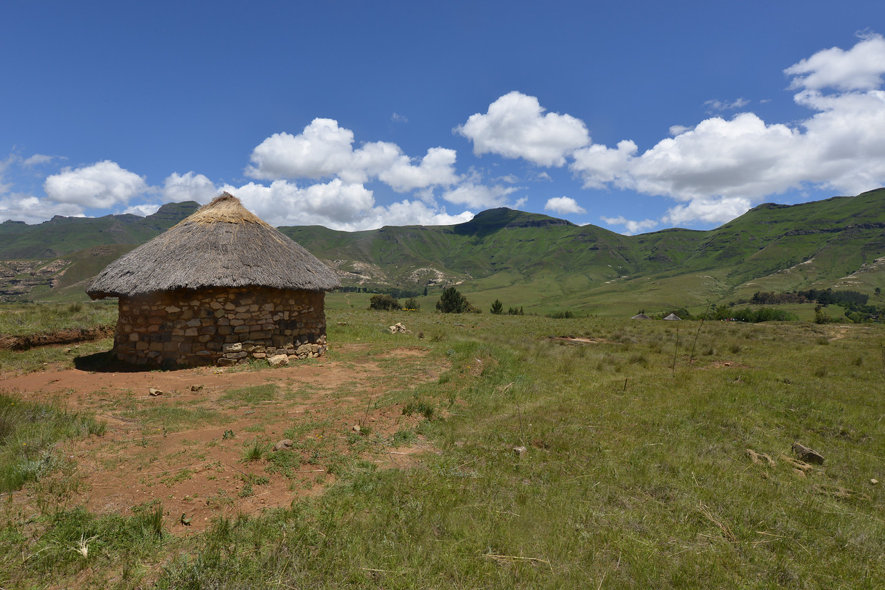 Hut in the Lesotho Landscape