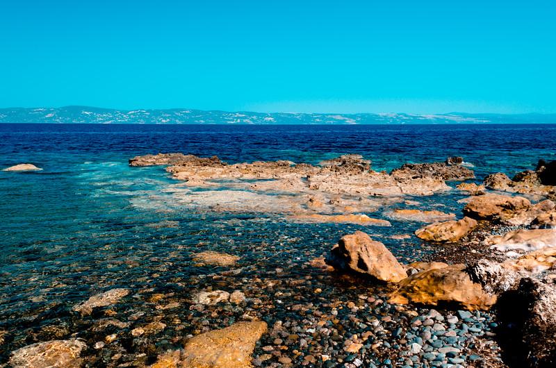 Eftalau, Lesvos, Greece. Turkish coast in the background.