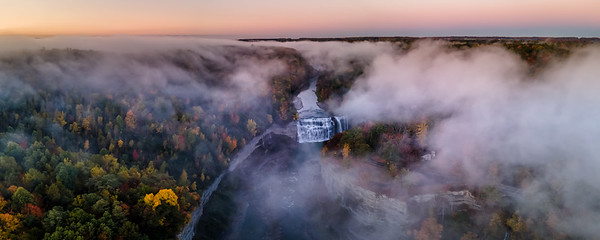Middle Falls Aerial Pano