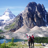 """Mt. Assiniboine(3618m) is the sixth hightest mountain un the Canadian Rockies. Mt. Assiniboine is sometimes called """"the Canadian Matterhorn."""""""
