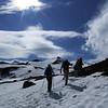 Trekking after get off Heli