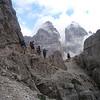 The trail to the drei Zinnenn : Dolomite