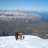 Climb down Mt.Marmolada. Mt. Piz Boe(3150m) is in the distance.