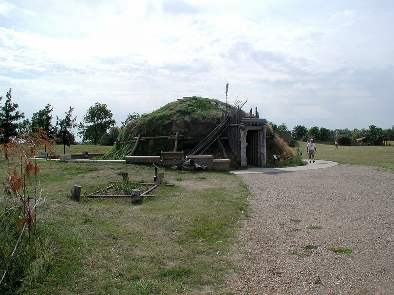 Another mound dwelling, this time at Knife River Village