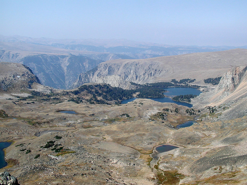 Beartooth Pass at 11,000' along the Beartooth Highway, in the smoke again.