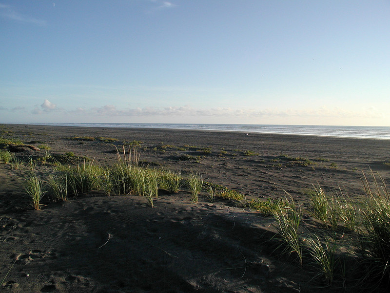 The Pacific Ocean, just north of the mouth of the Columbia.