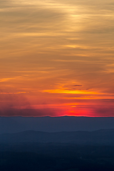 Dusk on the Blue Ridge Parkway