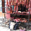 Butcher stand in Lhasa. Look at all that yummy cow offal! And complete heads! Mmmmmmm