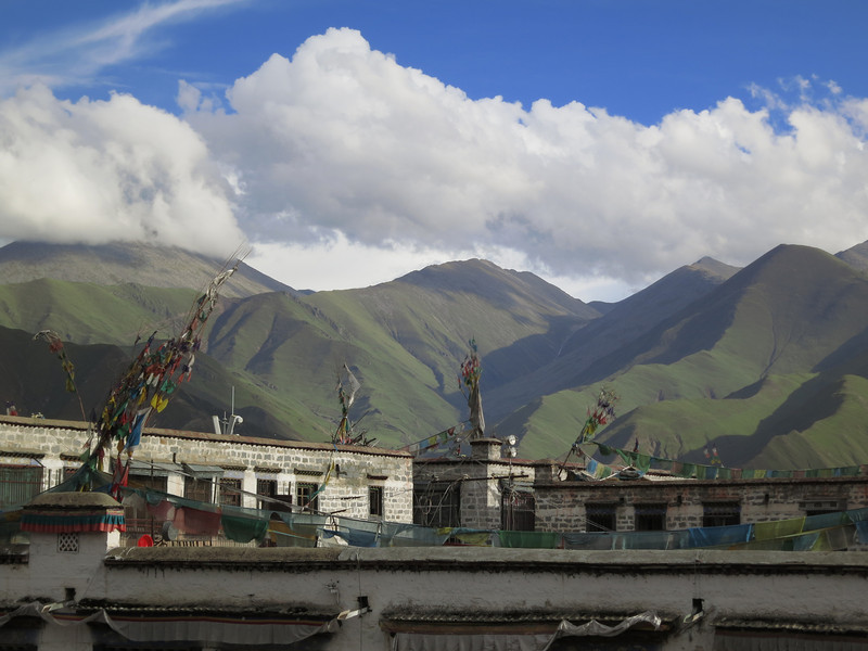 Green hills over Lhasa