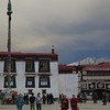 Nuns and Chinese tourists in front of the Jokhang Monastery in Barkhor Square