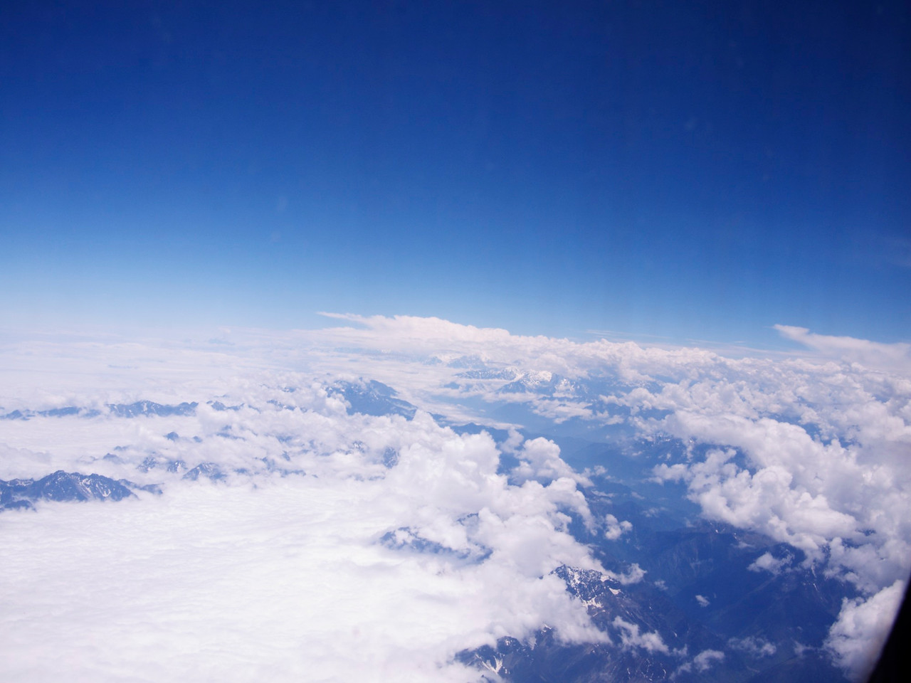 Flying over the foothills of the himalayas