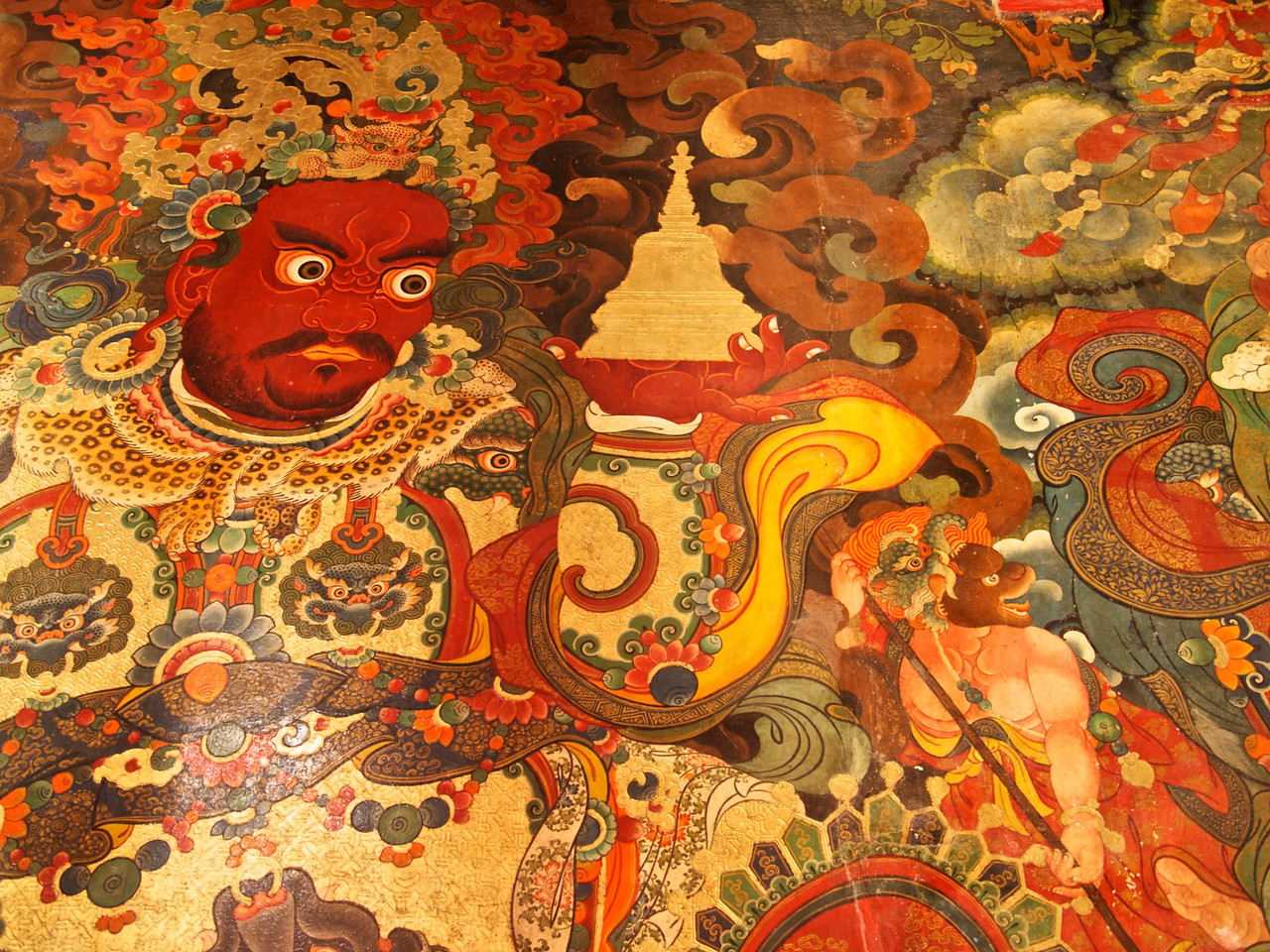 a mural in the potala