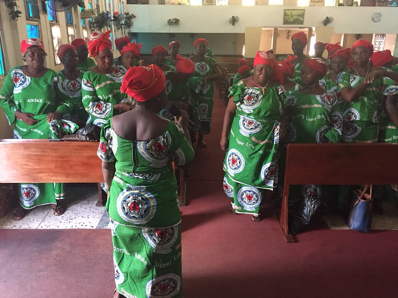 Choir on program, St Peters Lutheran Church, Monrovia