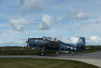 TBM- E3 Avenger - taxiing to the runway.