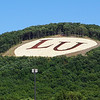 Liberty University, Lynchburg, Virginia, has its initials emblazoned on Liberty Mountain adjacent to the campus.