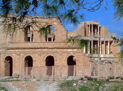 Sabratha: Roman theater, 2nd - 3rd century A.D.
