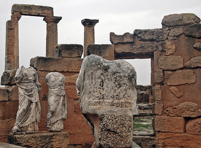 Cyrene: Sanctuary of Demeter and Kore, 4th - 3rd century B.C. Demeter and Kore were Greek fertility goddesses. Newly married women came here to pray for children; pregnant wives prayed for a safe delivery of a male child.