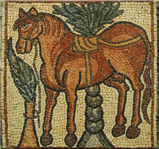 Qasr Libya, Cyrenaica: Byzantine mosaic, 6th century A.D.