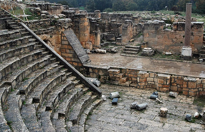 Cyrene:Theater, originally Greek 3rd/4th century B.C.; then Roman, 2nd century A.D.