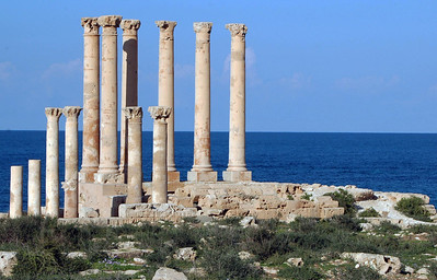 Sabratha: Temple of Isis; Roman, 1st century A.D. After Leptis Magna, Sabratha is the most well-preserved Greek and Roman settlement and, like Leptis, is a World Heritage Site.