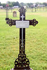 The cross seems to have rusted much more than most of them. Possibly it has not been painted like many of the others. Liebenthal, KS St Joseph's Cemetery