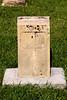 Limestone marker at St Joseph's cemetery Liebenthal, KS