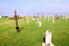 It is hard to tell, a times, what was actually used to create the iron crosses. Liebenthal, KS St Joseph's Cemetery