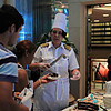 Cap'n Kate, first female Cruise Ship Captain, in a cake decorating competition
