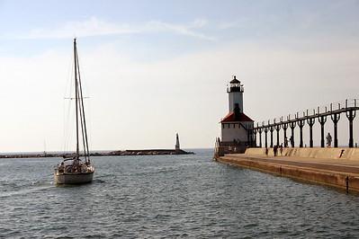 Michigan City East Pier Light Michigan City, IN