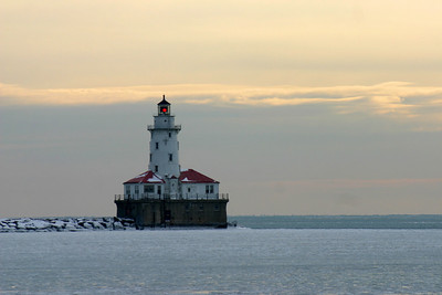 Chicago Harbor Lighthouse Chicago, Illinois Lake Michigan