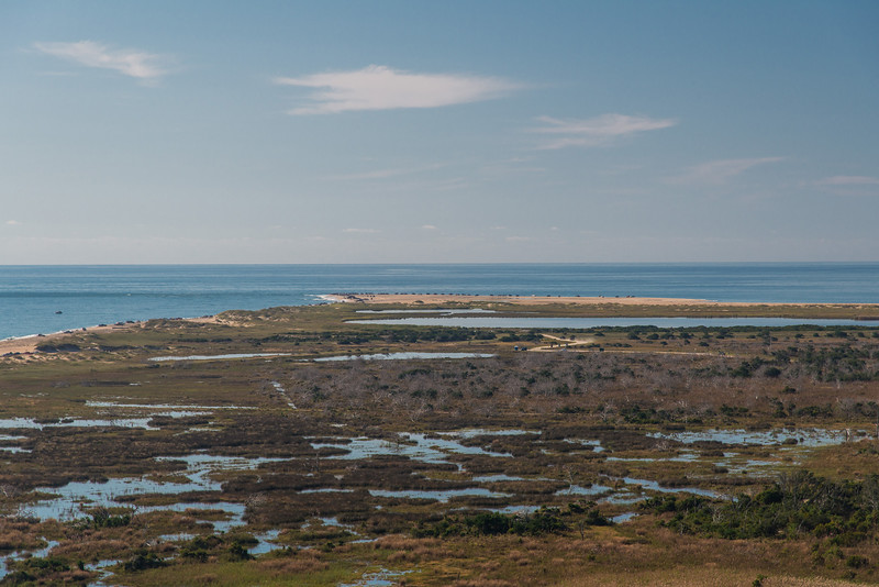 View from the top of the Hatteras Lighthouse, looking to the SE