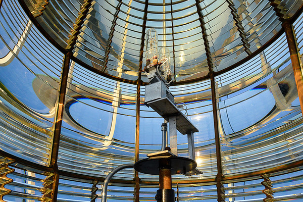 "Fresnel lenses (pronounced ""Fre-nel,"" with a silent ""s"") that concentrate light into a super-powerful beam."