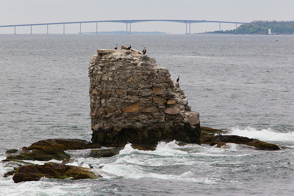 Whale Rock Light (Ruins), Jamestown, RI