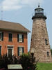 Charlotte-Genesee Lighthouse; located in the former Village of Charlotte (at the Port of Rochester, NY); originally constructed in 1822, south of what once was a marshy area on the southern shores of Lake Ontario.