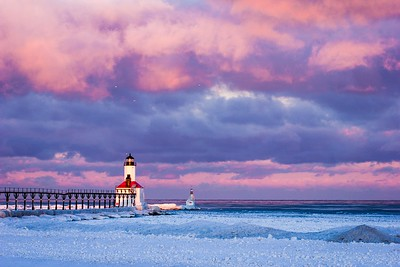 Frozen Beach - Michigan City IN