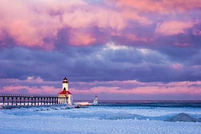 Frozen Beach - Michigan City IN