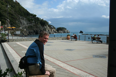 Enjoying the seaside piazza in old town Monterosso, not far from our hotel.
