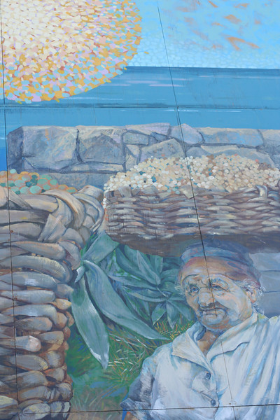 A portion of the mural near the Riomaggiore train station.