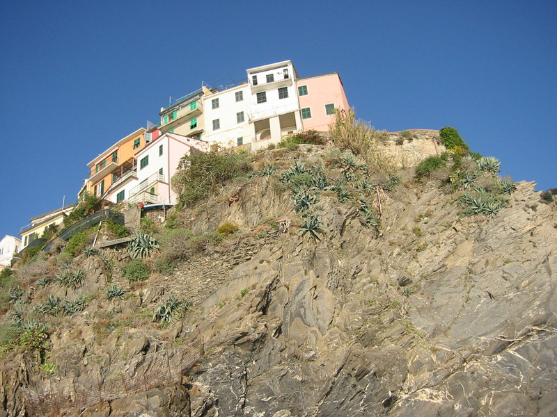 From the boat, riding back to Monterosso.