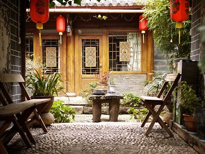 Shuhe - Lovely courtyards everywhere.