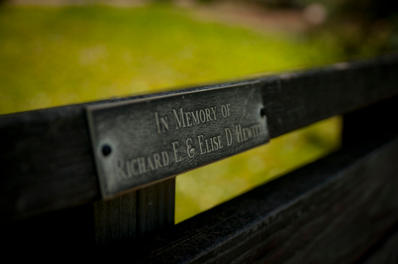 Every bench in Lily Dale is a place for you to sit and enjoy your surrounds, in the memory of someone who's no longer of this world.