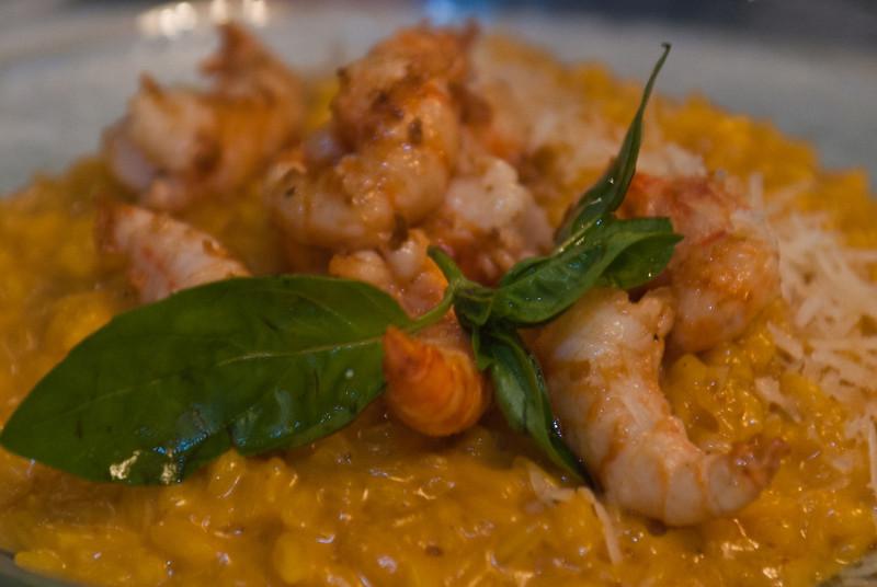 Risotto con camarones (40 S/. - 13 €) - Cala - Costa Verde - Barranco - Lima - Peru